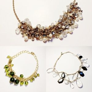 3 Beaded Statement Necklaces Banana Republic